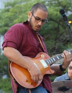 Anthony Nufrio teaching guitar in Toronto