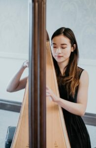 Denise Fung teaches classical harp and piano lessons in Toronto