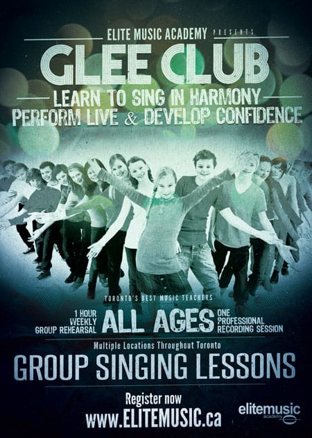 Glee Club Singing Lessons Toronto