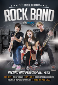 Rock Band Group Music Lessons Toronto