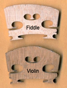 Violin vs Fiddle Bridge